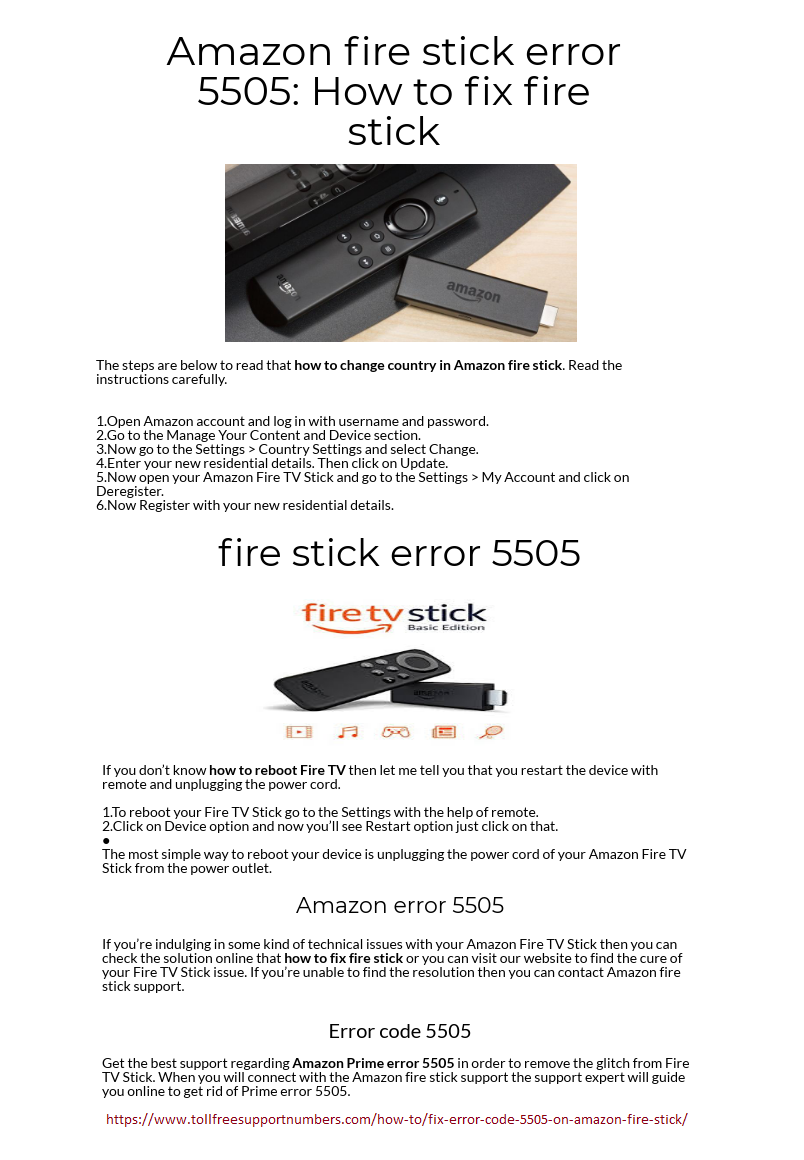 Things About Infographic To Amazon Error 5505 You'll Kick Yourself for Not Knowing – Error code 5505 on Amazon fire s...